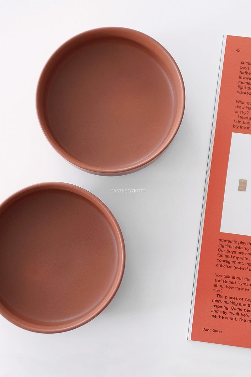 Trendfarbe Terrakotta: Wohntrend Schälchen Geschirr. Tasteboykott Wohnblog Wohninspiration.