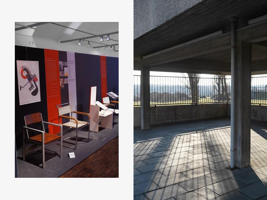 Bauhaus-Ausstellung in Amberg, Oberpfalz, Glaskathedrale von Walter Gropius.