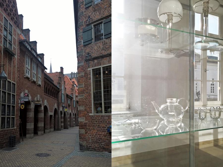 Bremen Böttcherstraße und Wilhelm Wagenfeld Haus