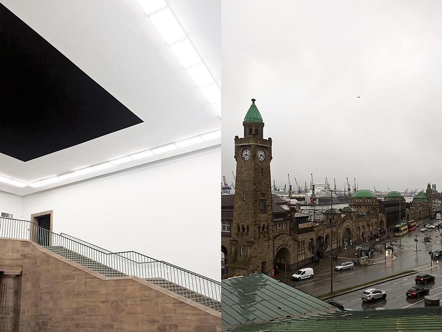 Hamburger Kunsthalle und Landungsbrücken