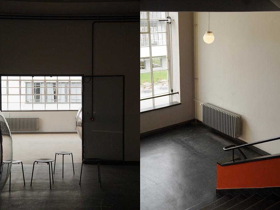 Neues Bauen in Deutschland: Walter Gropius, Treppenhaus und Ausstellungraum Bauhausgebäude. Stiftung Bauhaus Dessau.
