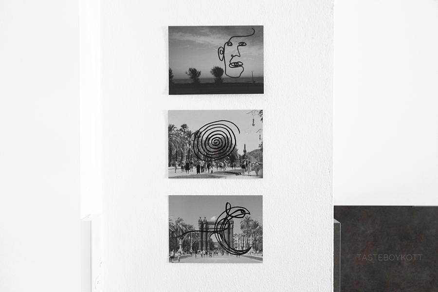 Schwarz-Weiß-Fotos bemalen mit Marker - Kunst-Update April 2019