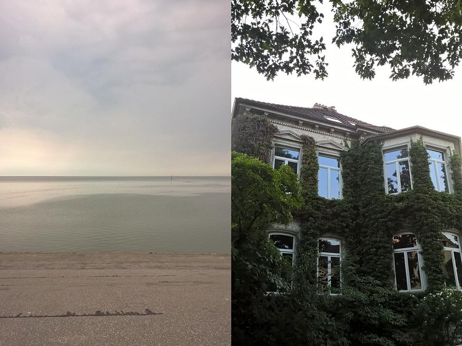 Nordsee im August und Dobbenviertel in Oldenburg