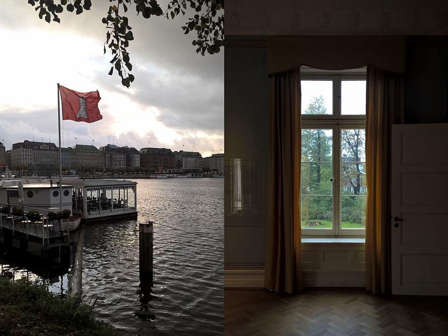 Hamburg Binnenalster und Jenischhaus