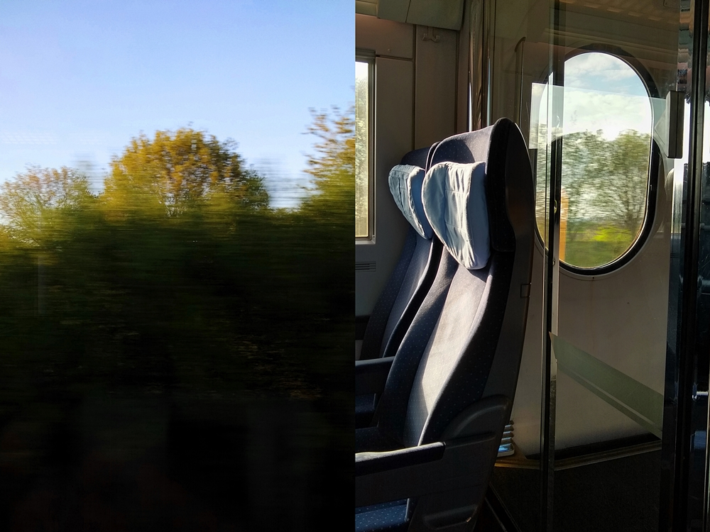 Outtakes – Monatsrückblick März & April 2020  - Prinzenpalais Oldenburg. Bahn fahren: leere Züge während Corona im April.