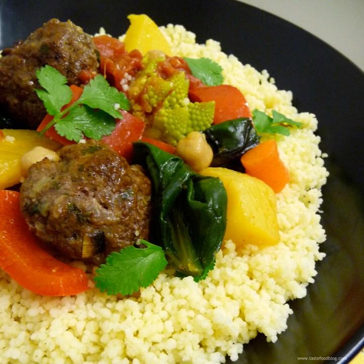 Lamb Kefta and Vegetable Couscous