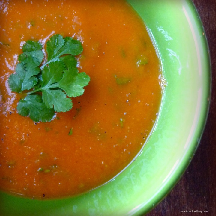Carrot Soup with Coriander Seed and Cilantro