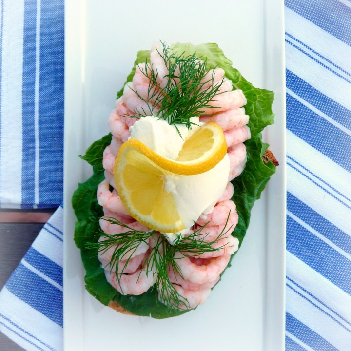 Holiday Timeout: Shrimp and Dill Open-Face Sandwich