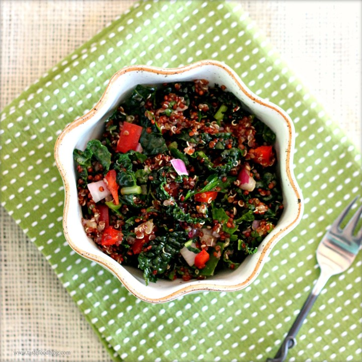 Red Quinoa and Kale Slaw
