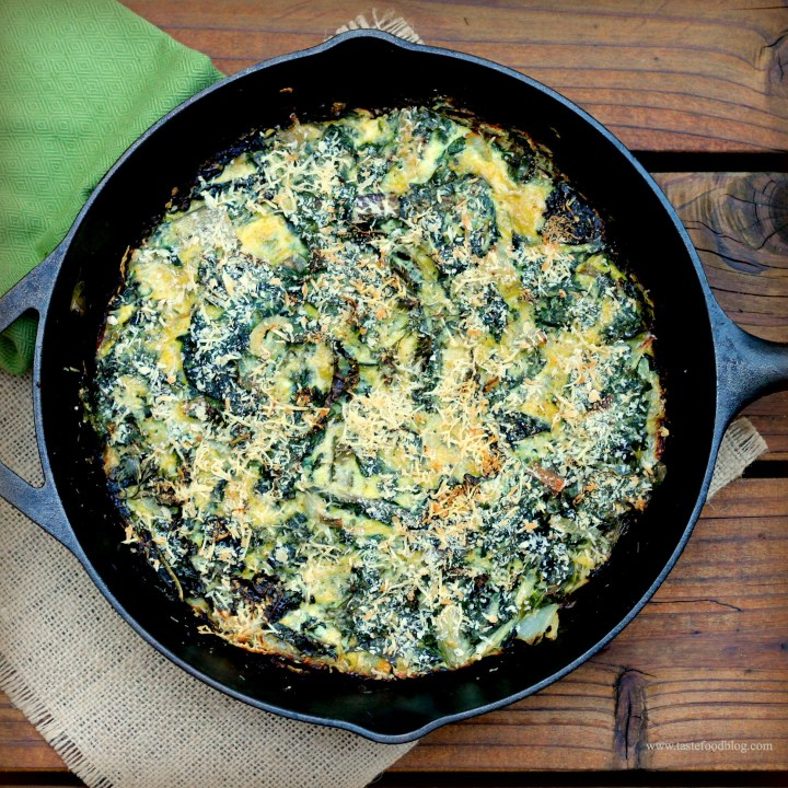Swiss Chard and Kale Frittata