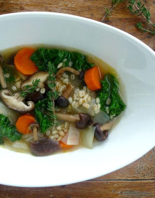 barley kale soup