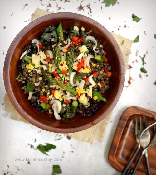black lentils salad tastefood