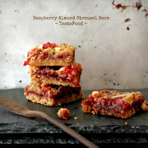 raspberry almond bars tastefood