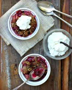 Rhubarb Berry Fruit Crisp Gluten Free