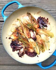 Balsamic Braised Chicories