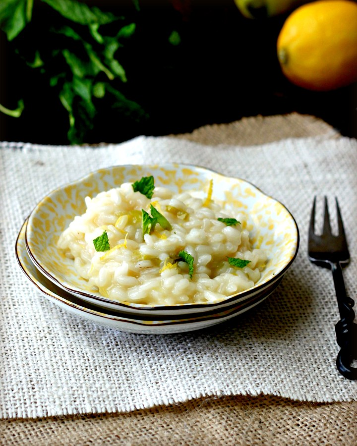Lemon Risotto with Mint