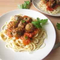 Pasta Thịt Viên sốt Cà Chua (Meatball Spaghetti)