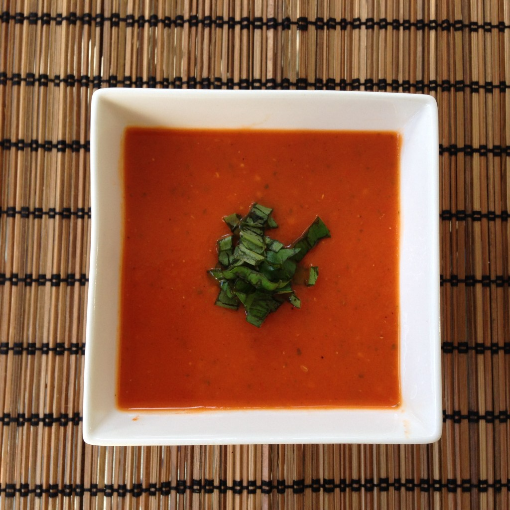 Bowl of Roasted Tomato Basil Soup