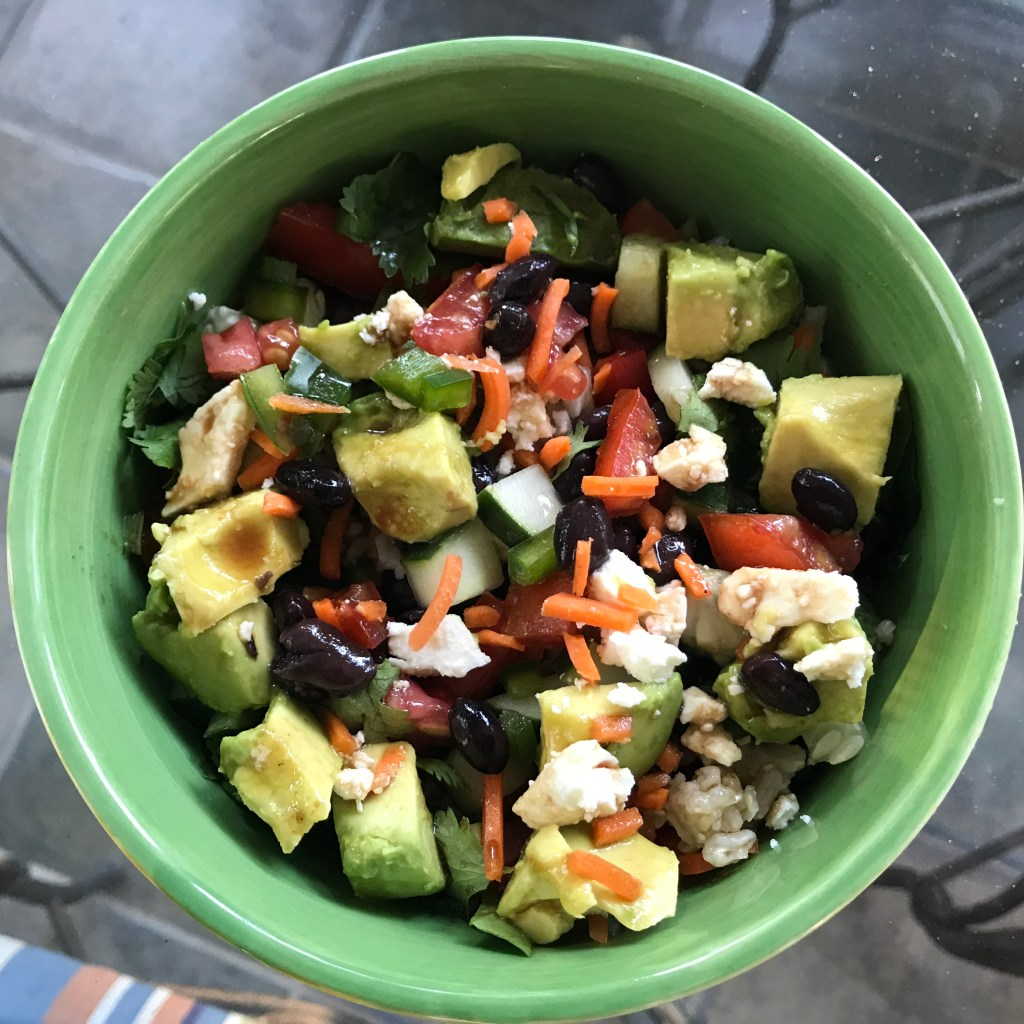 Veggie Rice Power Bowl with Curry Vinaigrette