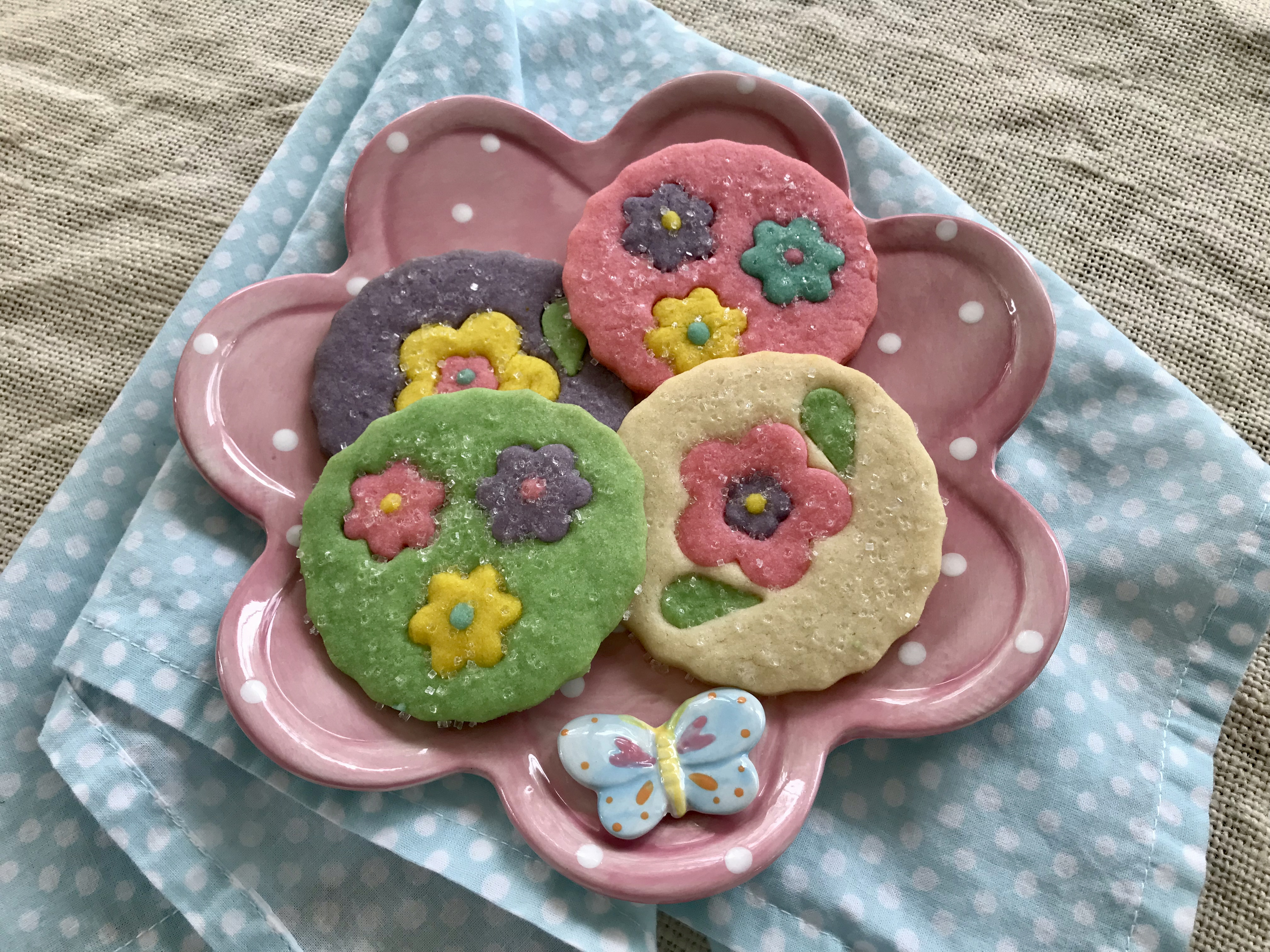 Sparkling Flower Sugar Cookies