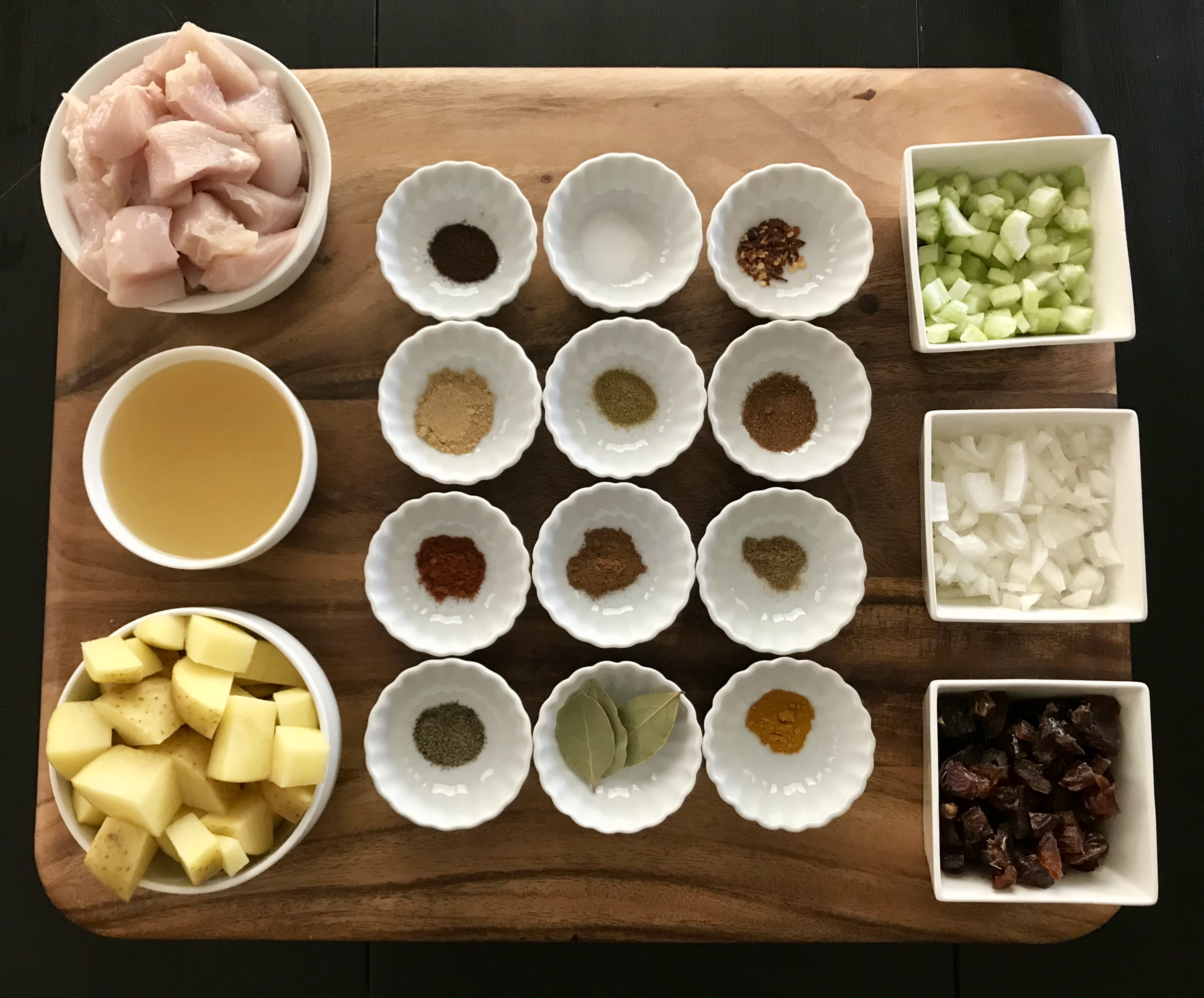 Ingredients for Slow Cooked Moroccan Chicken Stew