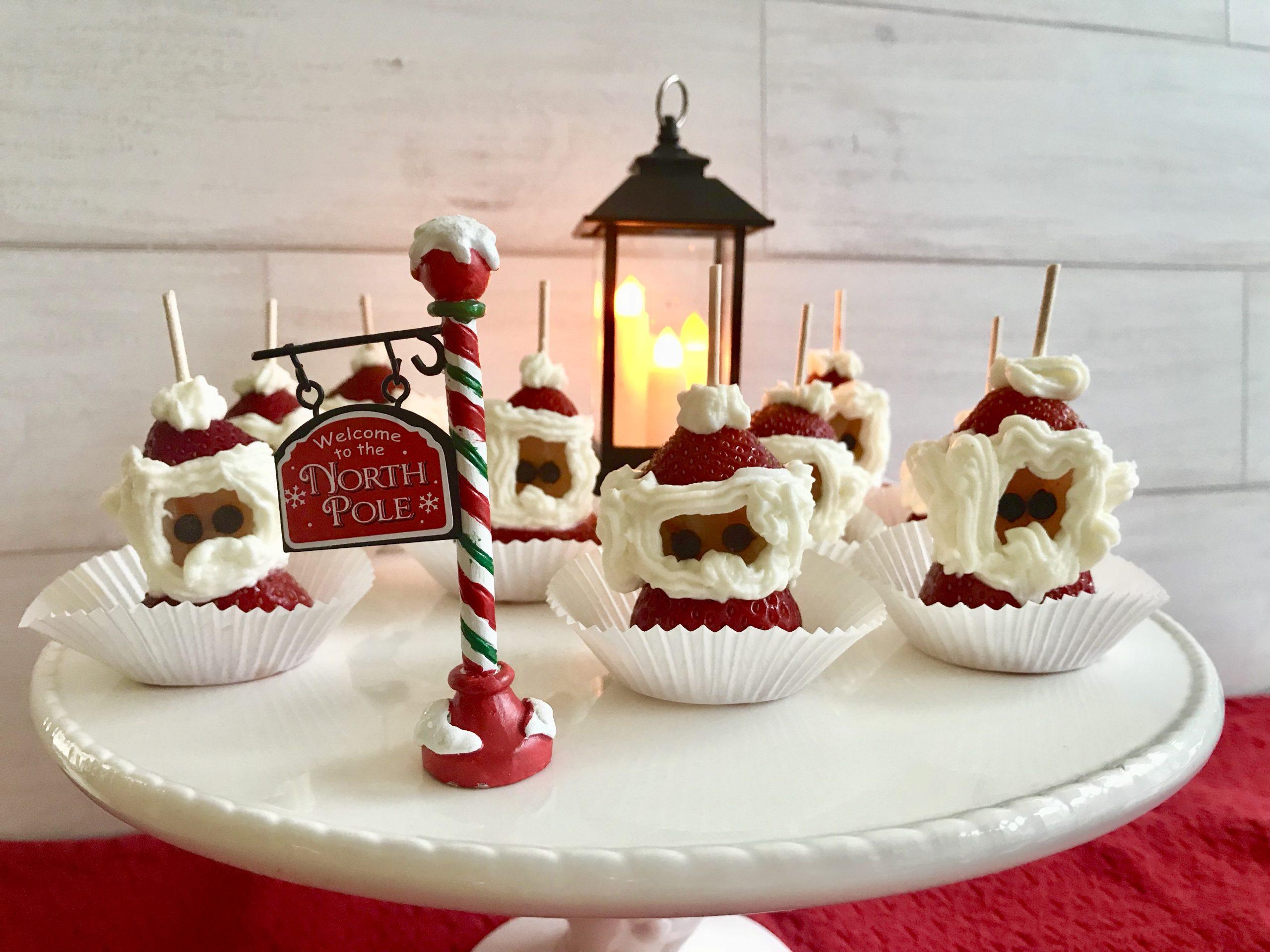Strawberry Cream Cheese Santas