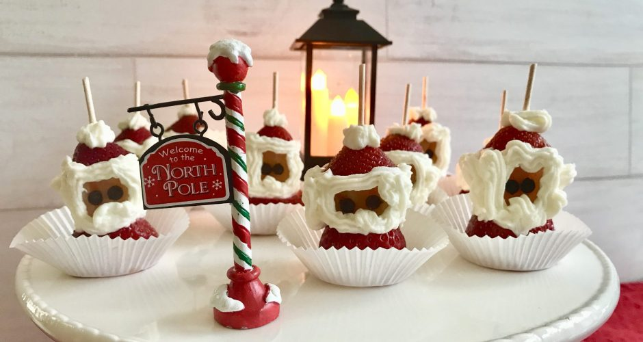Strawberry Cream Cheese Santas