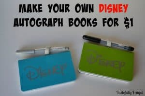 Make Your Own Disney Autograph Books for $1