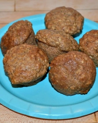 Toddler Snacks: Applesauce Oatmeal Muffins made without eggs