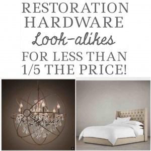 Restoration Hardware for Less