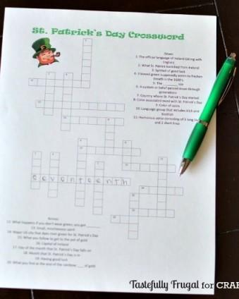 St. Patrick's Day Crossword