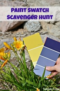 Paint Swatch Scavenger Hunt www.tastefullyfrugal.org