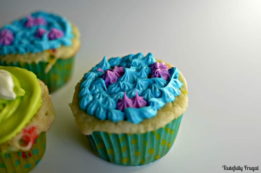 Monsters Inc. Cupcakes www.tastefullyfrugal.org