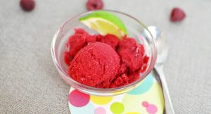 Raspberry Limeade Sorbet: Enjoy the sweet tartness of raspberries and lime in this cool, creamy sorbet.