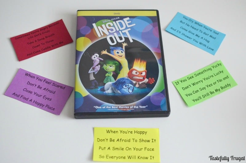 Teach Your Kids About Emotions with Inside Out and These FREE Printable Jingles | Tastefully Frugal AD #InsideOutEmotions #CollectiveBias