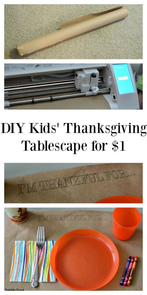 DIY Kids' Thanksgivng Tablescape for $1   Tastefully Frugal