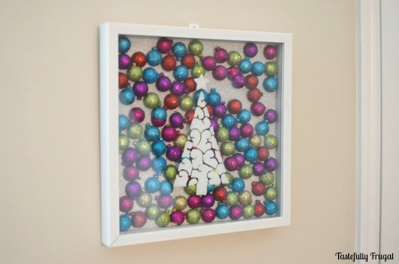 Christmas Tree & Ornament Shadow Box | Tastefully Frugal