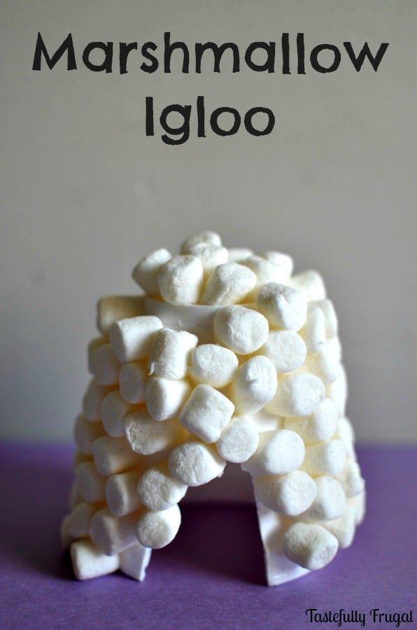 5 Winter Crafts for Toddlers: Marshmallow Igloo |Tastefully Frugal