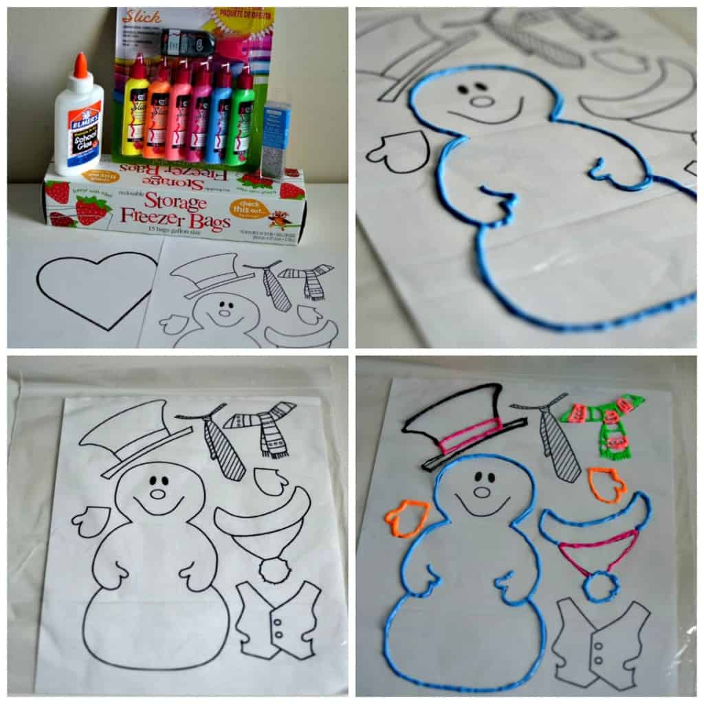 5 Winter Crafts for Toddlers: DIY Window Clings |Tastefully Frugal