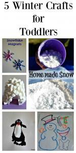 5 Winter Crafts for Toddlers |Tastefully Frugal