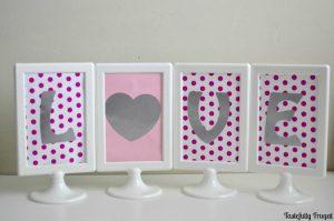 Reversible Valentine's Day / St. Patrick's Day Sign | Tastefully Frugal