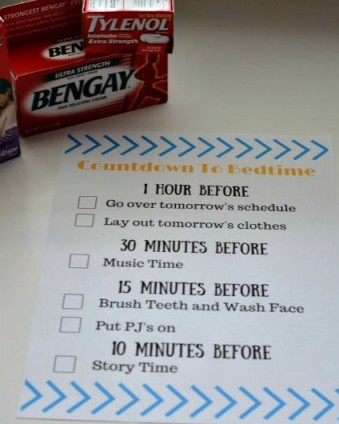#ad 5 Ways To Ease Back Into A Nighttime Rountine + FREE Countdown To Bedtime Printable | Tastefully Frugal #PositivelyPrepared #BackToSchool