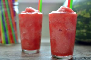 3 Ingredient Watermelon Slush: A healthy treat the whole family will love | Tastefully Frugal