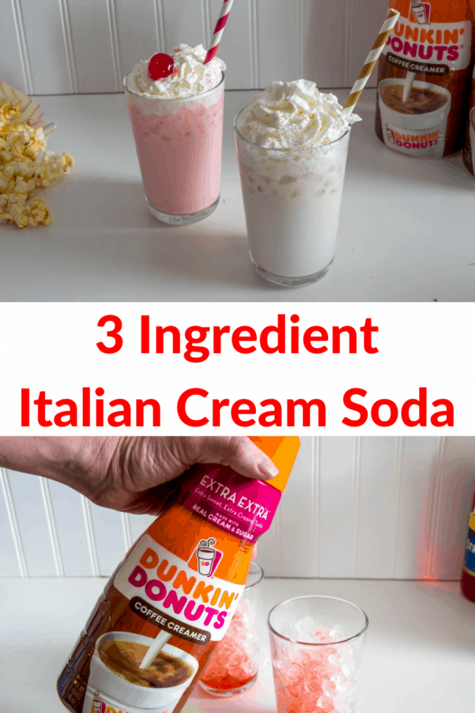 These Italian Cream Sodas are the perfect cool treat for summer that you can make in just a few seconds