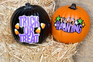 Easy DIY Pumpkins made with your Cricut. Quick Halloween Projects