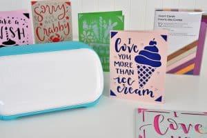 Make custom cards for less than $1 with Cricut Joy!