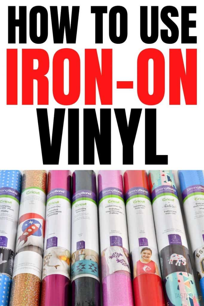 EVERYTHING you need to know about Iron-On Vinyl including types of HTV, what to use it on, how to use it and more!