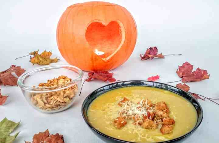 Slimming World Syn Free Pumpkin Soup Recipe & Spiced Roasted Seeds Snack