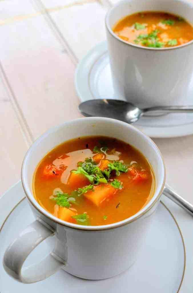 slimming world syn free chunky butternut squash soup maker recipe