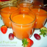 Mixed Fruit Juice/ Fresh Fruit Juice Recipe